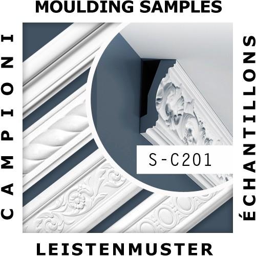 1 MUSTERSTÜCK S-C201 Orac Decor LUXXUS | MUSTER Eckleiste Stuckleiste ca. 10 cm lang – Bild 2