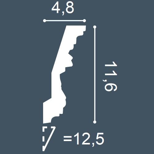 1 MUSTERSTÜCK S-C201 Orac Decor LUXXUS | MUSTER Eckleiste Stuckleiste ca. 10 cm lang – Bild 4