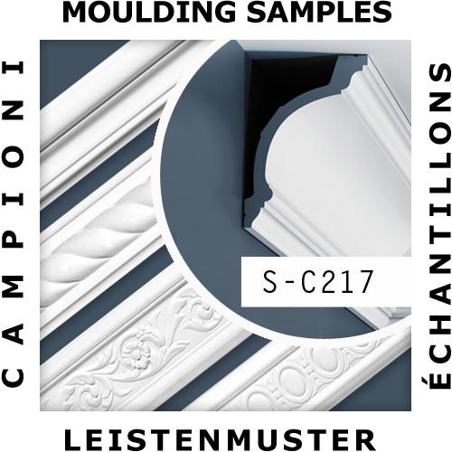 1 CAMPIONE S-C217 Orac Decor LUXXUS | CAMPIONE di modanatura Cornice soffitto parete Lunghezza circa 10 cm – Bild 2