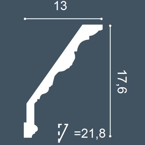 1 CAMPIONE S-C219 Orac Decor LUXXUS | CAMPIONE di modanatura Cornice soffitto parete Lunghezza circa 10 cm – Bild 4