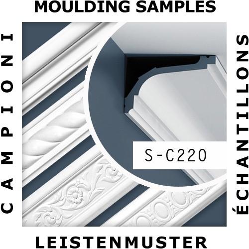 1 CAMPIONE S-C220 Orac Decor LUXXUS | CAMPIONE di modanatura Cornice soffitto parete Lunghezza circa 10 cm – Bild 2