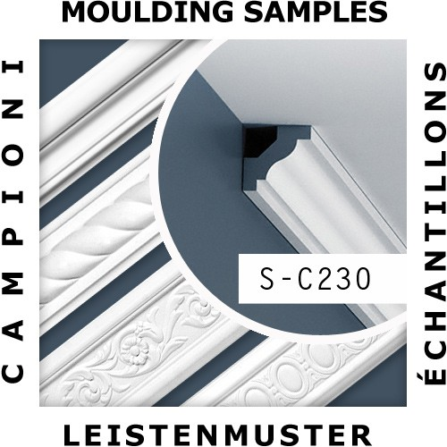 1 MUSTERSTÜCK S-C230 Orac Decor LUXXUS | MUSTER Eckleiste Stuckleiste ca. 10 cm lang – Bild 2