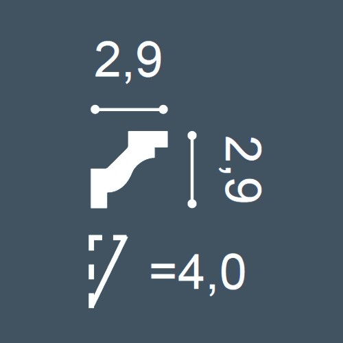 1 MUSTERSTÜCK S-C230 Orac Decor LUXXUS | MUSTER Eckleiste Stuckleiste ca. 10 cm lang – Bild 4