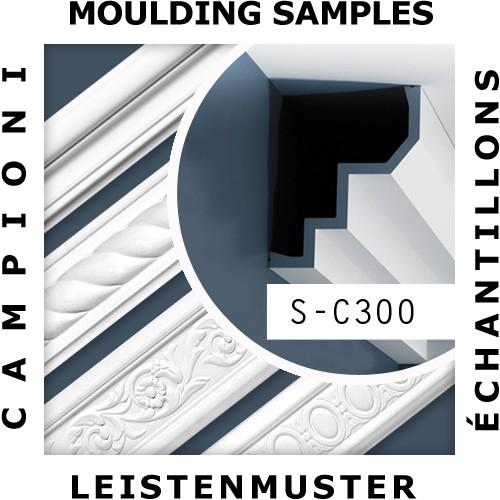1 MUSTERSTÜCK S-C300 Orac Decor LUXXUS | MUSTER Eckleiste Stuckleiste ca. 10 cm lang – Bild 2