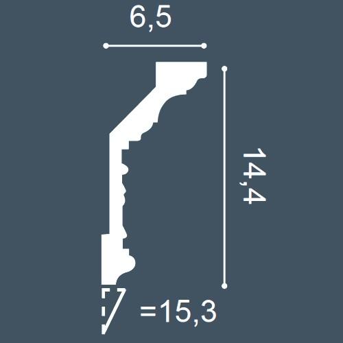 1 MUSTERSTÜCK S-C303 Orac Decor LUXXUS | MUSTER Eckleiste Stuckleiste ca. 10 cm lang – Bild 4