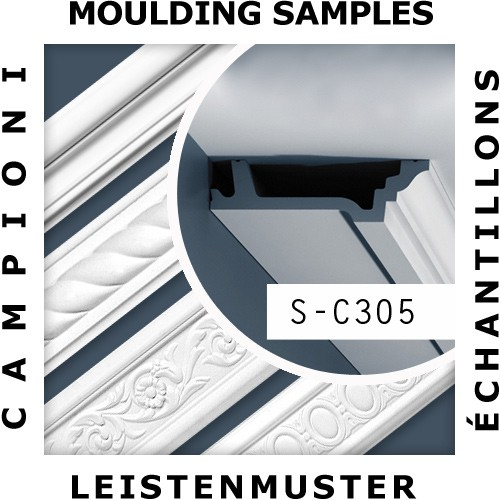 1 MUSTERSTÜCK S-C305 Orac Decor LUXXUS | MUSTER Eckleiste Stuckleiste ca. 10 cm lang – Bild 2