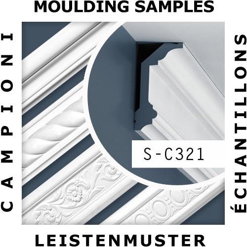 1 MUSTERSTÜCK S-C321 Orac Decor LUXXUS | MUSTER Eckleiste Stuckleiste ca. 10 cm lang – Bild 2