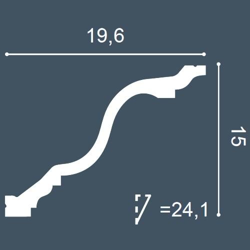 1 MUSTERSTÜCK S-C334 Orac Decor LUXXUS | MUSTER Eckleiste Stuckleiste ca. 10 cm lang – Bild 4