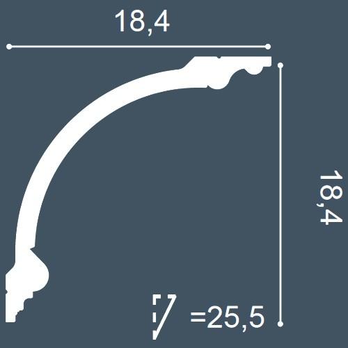 MUSTER Zierleiste Musterstück C338 – Bild 4