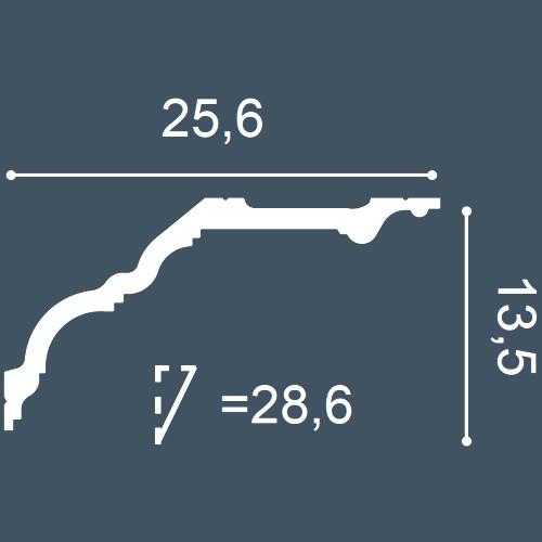 1 PIEZA DE MUESTRA S-C340 Orac Decor LUXXUS | MUESTRA Cornisa Moldura para techo Longitud aprox 10 cm – Imagen 4
