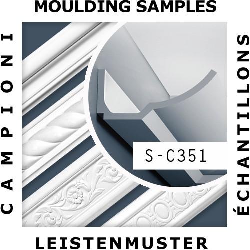 1 MUSTERSTÜCK S-C351 Orac Decor LUXXUS | MUSTER Eckleiste Zierleiste ca. 10 cm lang – Bild 2