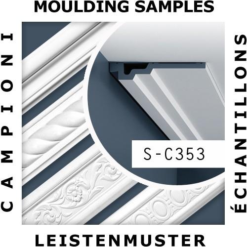 1 MUSTERSTÜCK S-C353 Orac Decor LUXXUS | MUSTER Eckleiste Zierleiste ca. 10 cm lang – Bild 2