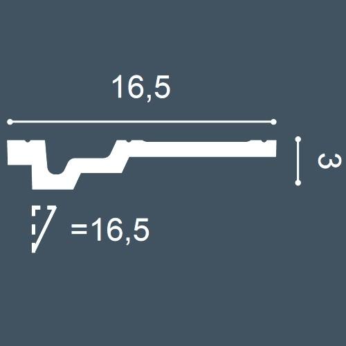 1 MUSTERSTÜCK S-C353 Orac Decor LUXXUS | MUSTER Eckleiste Zierleiste ca. 10 cm lang – Bild 4