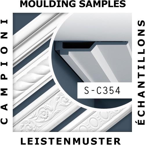 1 MUSTERSTÜCK S-C354 Orac Decor LUXXUS | MUSTER Eckleiste Zierleiste ca. 10 cm lang – Bild 2