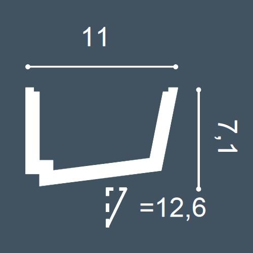 1 MUSTERSTÜCK S-C357 Orac Decor LUXXUS | MUSTER Eckleiste Zierleiste ca. 10 cm lang – Bild 4