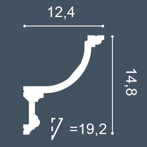 1 MUSTERSTÜCK S-C901 Orac Decor LUXXUS | MUSTER Eckleiste Deckenleiste ca. 10 cm lang – Bild 4