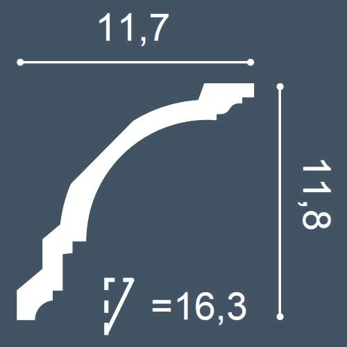 1 PIEZA DE MUESTRA S-C382 Orac Decor MODERN | MUESTRA Cornisa para techo Moldura decorativa Longitud aprox 10 cm – Imagen 4