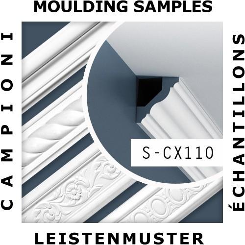 1 MUSTERSTÜCK S-CX110 Orac Decor AXXENT | MUSTER Eckleiste Deckenleiste ca. 10 cm lang – Bild 2