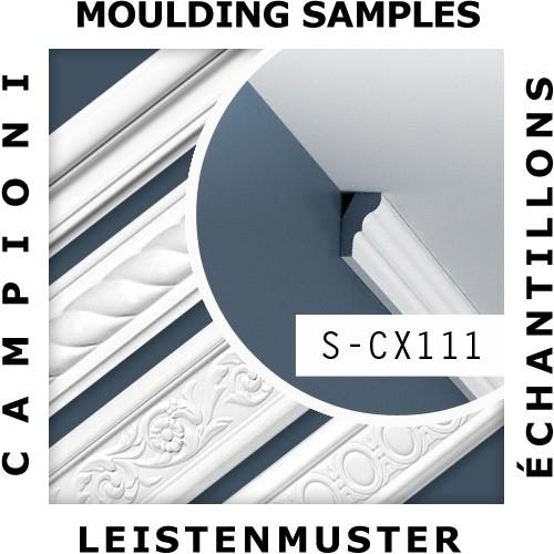 1 MUSTERSTÜCK S-CX111 Orac Decor AXXENT | MUSTER Eckleiste Deckenleiste ca. 10 cm lang – Bild 2