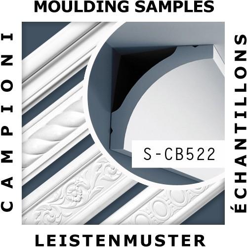 1 CAMPIONE S-CB522 Orac Decor BASIXX | CAMPIONE di modanatura Cornice soffitto parete Lunghezza circa 10 cm – Bild 2