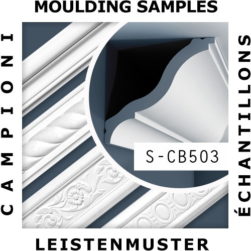 1 ÉCHANTILLON S-CB503 Orac Decor BASIXX | Échantillon Corniche Moulure décorative Longueur env. 10 cm – Bild 2