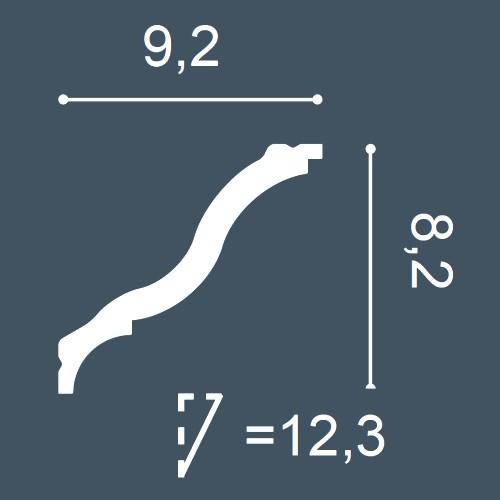 1 PIEZA DE MUESTRA S-CB521 Orac Decor BASIXX | MUESTRA Cornisa Moldura decorativa Longitud aprox 10 cm – Imagen 4