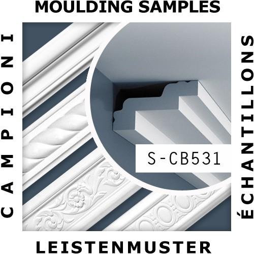 1 CAMPIONE S-CB531 Orac Decor BASIXX | CAMPIONE di modanatura Cornice soffitto parete Lunghezza circa 10 cm – Bild 2