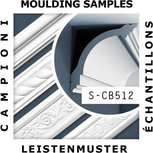1 ÉCHANTILLON S-CB512 Orac Decor BASIXX | Échantillon Corniche Moulure décorative Longueur env. 10 cm – Bild 2