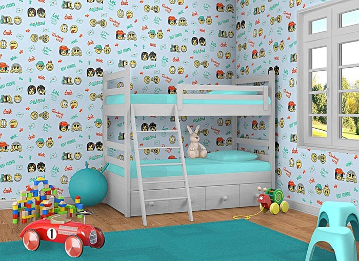 kindertapete edem 037 22 f r echte jungs fun manga anime smileys universelle kinder jugend. Black Bedroom Furniture Sets. Home Design Ideas