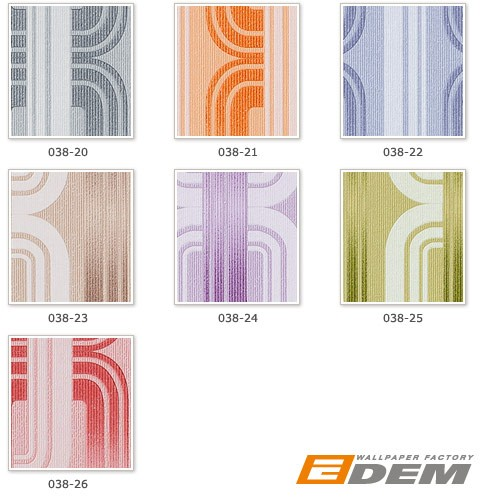 Wall covering Wallpapers retro 70s style wall EDEM 038-22 graphical pattern pastel lilac blue white glitter  – Bild 6