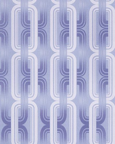 Wall covering Wallpapers retro 70s style wall EDEM 038-22 graphical pattern pastel lilac blue white glitter  – Bild 1