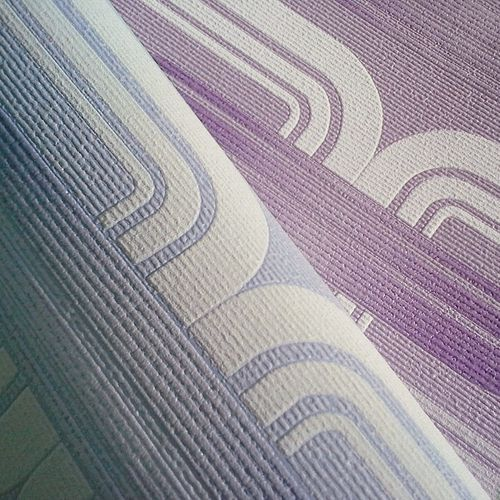 Wall covering Wallpapers retro 70s style wall EDEM 038-24 graphical pattern lilac violet lavender white glitter  – Bild 3