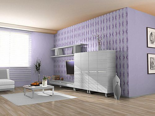 Wall covering Wallpapers retro 70s style wall EDEM 038-24 graphical pattern lilac violet lavender white glitter  – Bild 4