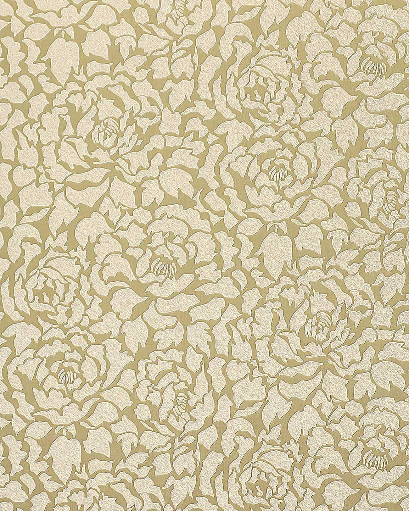 Papier peint deluxe pivoines fleurs edem 830 22 vanille - Sous couche papier peint ...