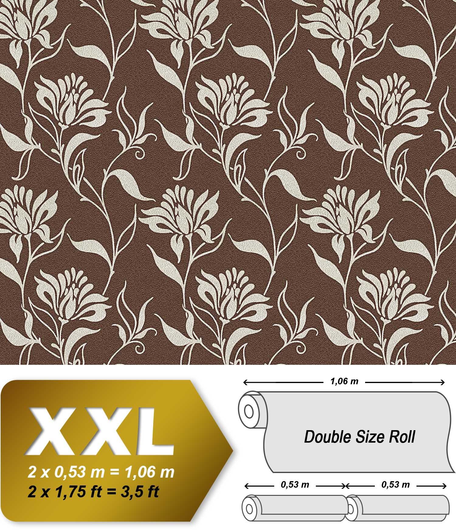 blumen tapete vliestapete edem 939 36 hochwertige hei gepr gete blumentapete florales muster. Black Bedroom Furniture Sets. Home Design Ideas