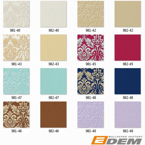 Luxury royal heavyweight non-woven wallpaper wall EDEM 982-40 wall covering plain embossed cream-white pearl-white  – Bild 2