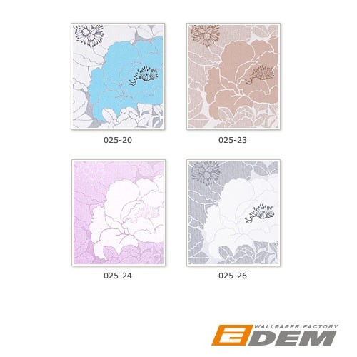 Wallpapers wallcoverings ITEM SAMPLES EDEM 025-series design flower floral vinyl  – Bild 3
