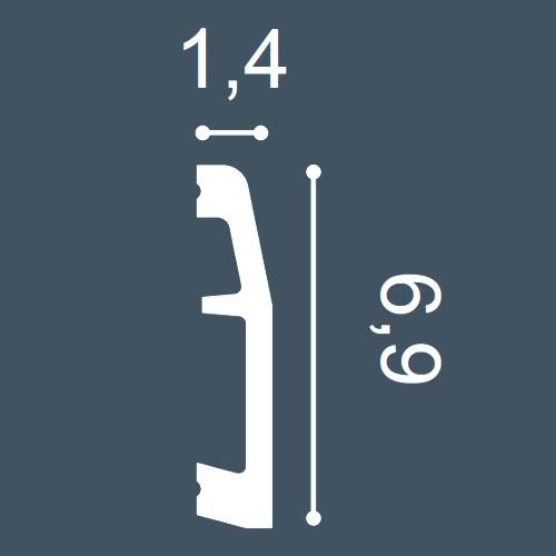 1 CAMPIONE S-SX125 Orac Decor AXXENT | CAMPIONE di modanatura Battiscopa Lunghezza circa 10 cm – Bild 4