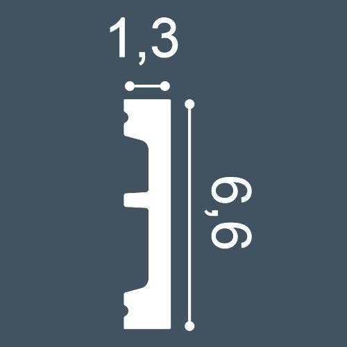 1 PIEZA DE MUESTRA S-DX182-2300 Orac Decor AXXENT | MUESTRA Marco de puerta Perfil multifuncional Longitud aprox 10 cm – Imagen 4