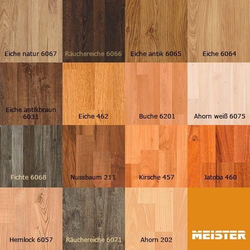 MEISTER 457 Klick Laminat Laminatboden Kirsche Holz-Nachbildung 3-Stab Schiffsboden | 3,06 qm / 12 Dielen – Bild 4