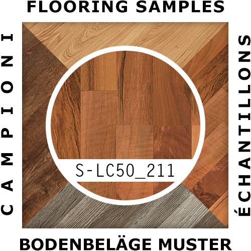 MUSTER LC50 211 | Meister Klick Laminat 3-Stab Nussbaum Schiffsboden - Mustergröße ca. 18 x 20 cm – Bild 2