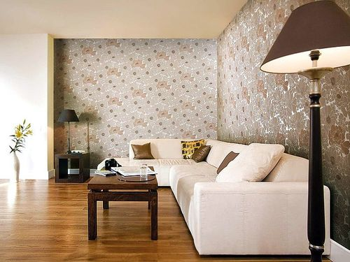 Wallpaper wall wallcovering flower floral vinyl EDEM 025-23 beige pearl white cocoa brown bronze  – Bild 2