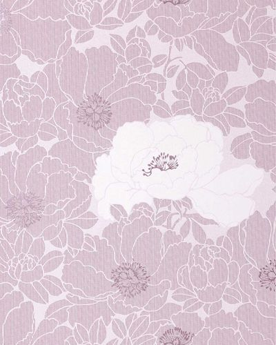 Wallpaper wall wallcovering flower floral vinyl EDEM 025-24 lavender pastel purple light lilac  – Bild 1