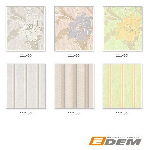 Style striped wall wallpaper wallcovering vinyl EDEM 112-35 light green saffron yellow light purple silver grey  – Bild 4