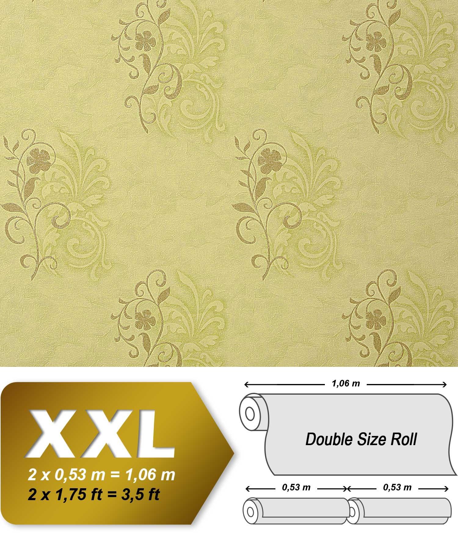 papel pintado no tejido imitacin fresco antiguo y estuco edem decorativo con flores en verde oliva m