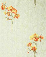 Wall covering floral pattern orchid wallpaper flowers EDEM 122-35 light green yellow red-orange green 001