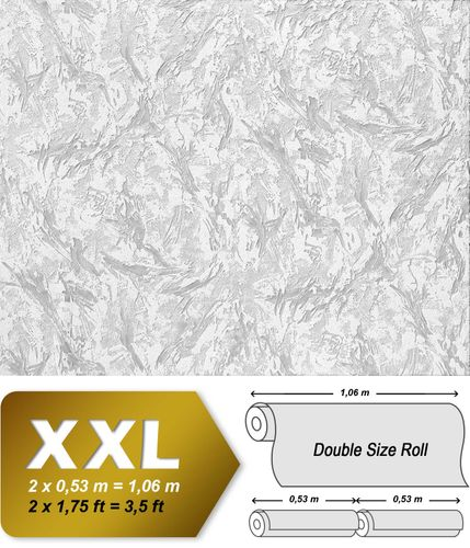 Wall covering non-woven EDEM 317-60 DIY Wallpaper wall paintable XXL deco textured white  – Bild 2