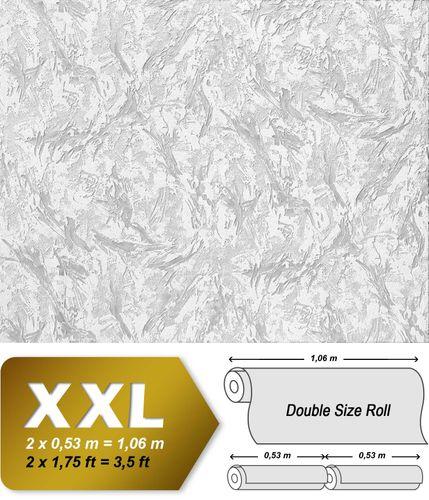 Papel pintado no tejido blanco nieve pintable con textura EDEM 317-60 decorativa de yeso para pintar encima 26,50 m2 – Imagen 2