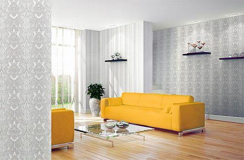 3D XXL Barock Tapete Vliestapete EDEM 691 93 Elegance Vintage Damask Relief  Tapete Creme