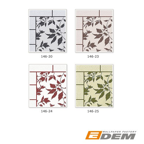 Wallpaper kitchen bath wall covering vinyl modern tile floral decor EDEM 146-24 white red maroon silver glitter  – Bild 4